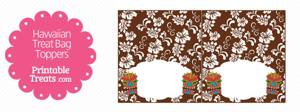 free-brown-tiki-mask-treat-bag-topper-printable