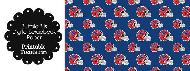 Buffalo Bills Football Helmet Digital Paper