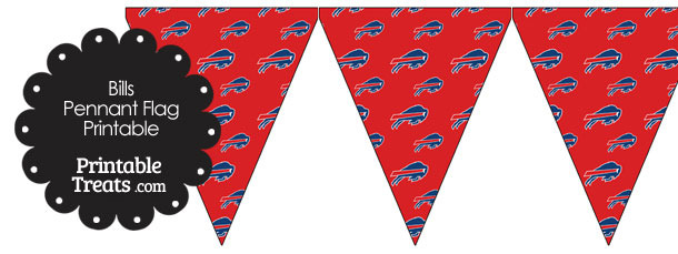 Buffalo Bills Logo Pennant Banners