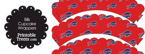 Buffalo Bills Logo Scalloped Cupcake Wrappers