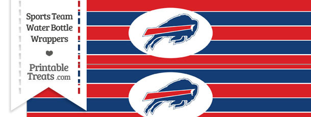 Buffalo Bills Water Bottle Wrappers