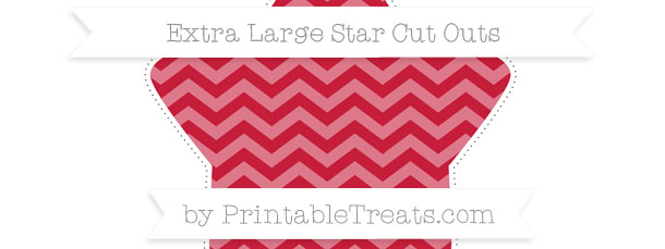 Cardinal Red Chevron Extra Large Star Cut Outs