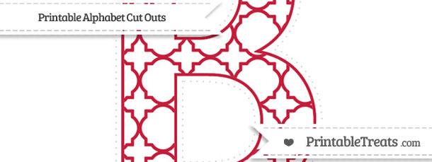 Free Cardinal Red Quatrefoil Pattern Extra Large Capital ...