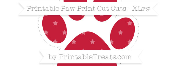 Cardinal Red Star Pattern Extra Large Paw Print Cut Outs