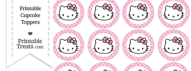 Free carnation pink moroccan tile hello kitty cupcake toppers free carnation pink moroccan tile hello kitty cupcake toppers maxwellsz