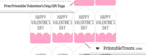 Free Carnation Pink Valentine\'s Day Gift Tags — Printable Treats.com