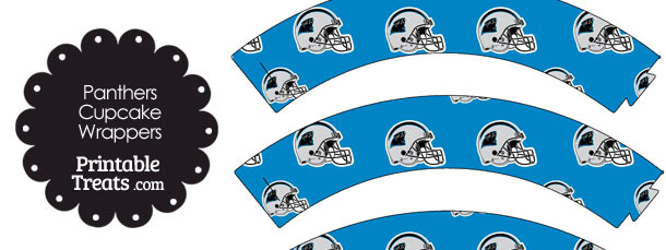 Carolina Panthers Football Helmet Cupcake Wrappers