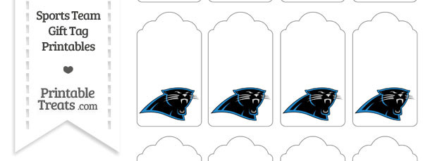 Carolina Panthers Gift Tags