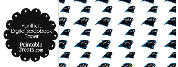 Carolina Panthers Logo Digital Paper