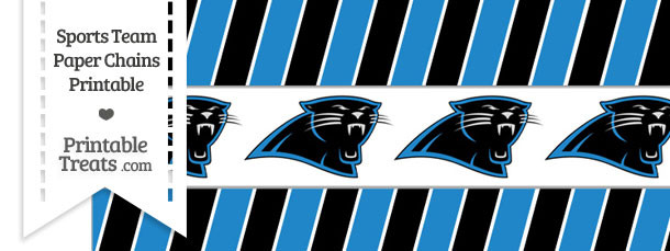 Carolina Panthers Paper Chains