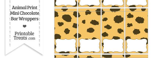 Cheetah Print Mini Chocolate Bar Wrappers