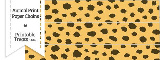 Cheetah Print Paper Chains