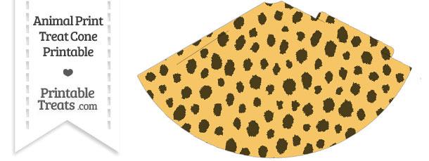 Cheetah Print Party Cone