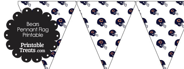 Chicago Bears Football Helmet Pennant Banners