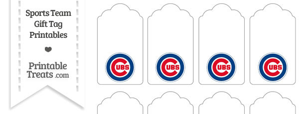 photo regarding Printable Chicago Cubs Logo identified as Chicago Cubs Reward Tags Printable