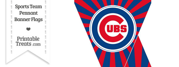 graphic regarding Chicago Cubs Printable Schedule referred to as Chicago Cubs Mini Pennant Banner Flags Printable