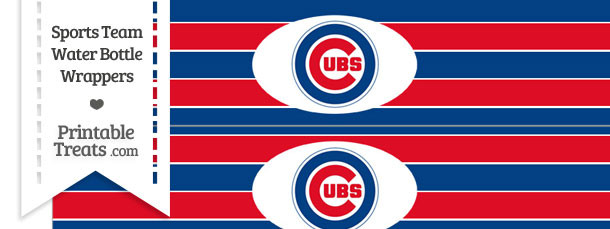 image relating to Printable Chicago Cubs Logo referred to as Chicago Cubs Drinking water Bottle Wrappers Printable