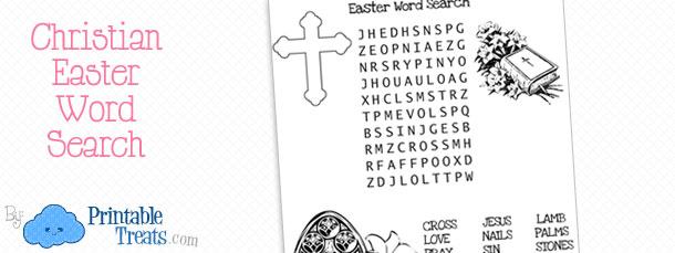 Christian Easter Word Search — Printable Treats.com