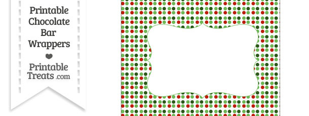 Christmas Dots Chocolate Bar Wrappers