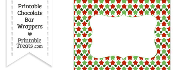 Christmas Stars Chocolate Bar Wrappers