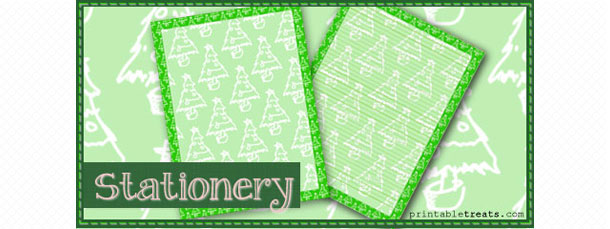 free-christmas-tree-stationery-template
