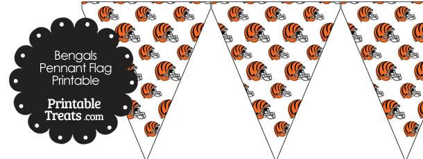 Cincinnati Bengals Football Helmet Pennant Banners