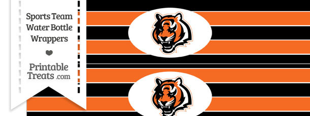 Cincinnati Bengals Water Bottle Wrappers