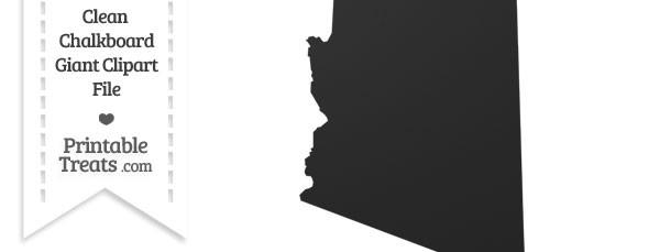 Clean Chalkboard Giant Arizona State Clipart