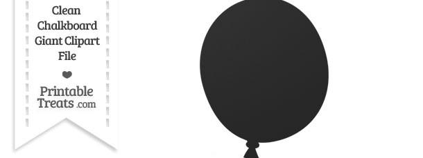 Clean Chalkboard Giant Balloon Clipart