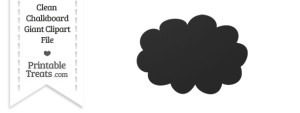 Clean Chalkboard Giant Cloud Clipart