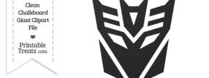 Clean Chalkboard Giant Decepticon Symbol Clipart