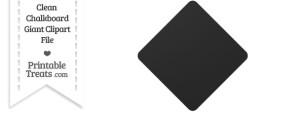 Clean Chalkboard Giant Diamond Card Symbol Clipart