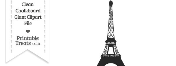 Clean Chalkboard Giant Eiffel Tower Clipart