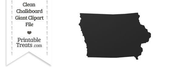 Clean Chalkboard Giant Iowa State Clipart