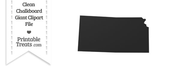 Clean Chalkboard Giant Kansas State Clipart