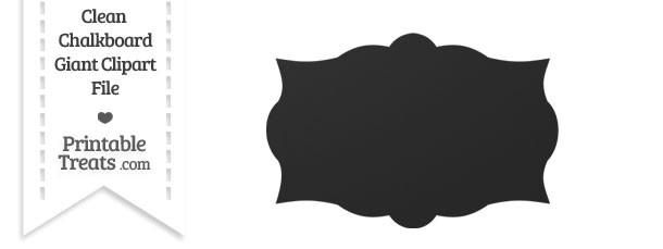 Clean Chalkboard Giant Label Clipart