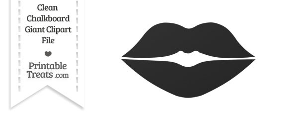 Clean Chalkboard Giant Lips Clipart