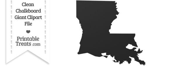Clean Chalkboard Giant Louisiana State Clipart