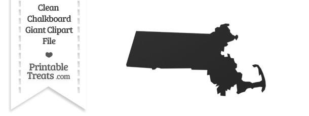 Clean Chalkboard Giant Massachusetts State Clipart