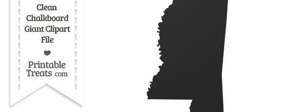 Clean Chalkboard Giant Mississippi State Clipart