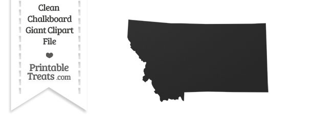 Clean Chalkboard Giant Montana State Clipart