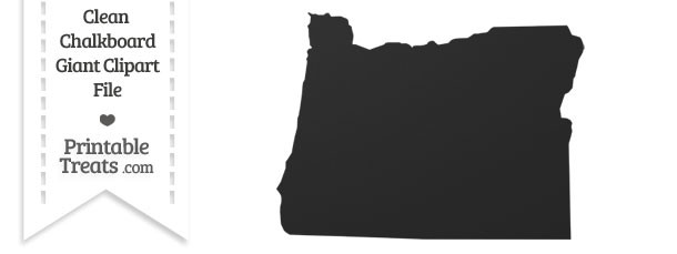 Clean Chalkboard Giant Oregon State Clipart
