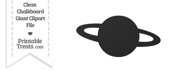 Clean Chalkboard Giant Planet Clipart