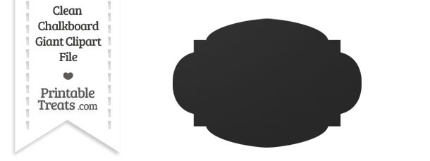 Clean Chalkboard Giant Rounded Label Clipart