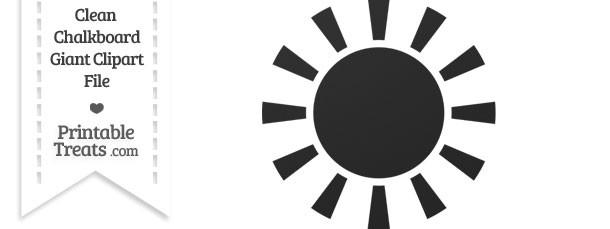 Clean Chalkboard Giant Sun Clipart Printable Treats Com