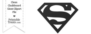 Clean Chalkboard Giant Superman Symbol Clipart