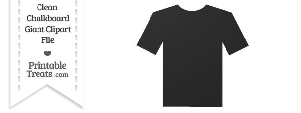 Clean Chalkboard Giant T-Shirt Clipart