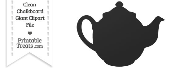 Clean Chalkboard Giant Teapot Clipart