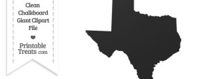 Clean Chalkboard Giant Texas State Clipart