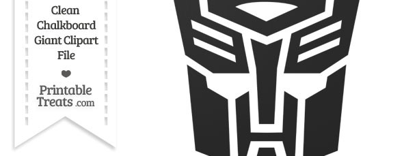 Clean Chalkboard Giant Transformers Symbol Clipart